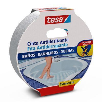 Cinta antideslizante p/baños y tinas 25 mm x 5 m