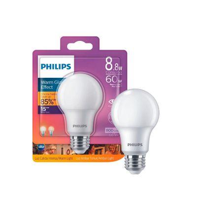 Foco led A19 cálida Dimeable 120V E27W arm Glow