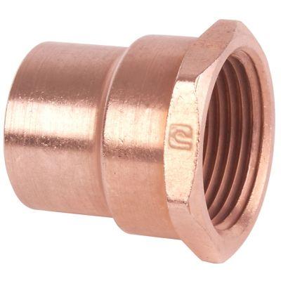 Conector rosca interior 1 1/4 cobre