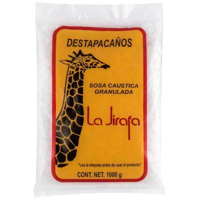 Sosa caustica en escamas 100% pura la jirafa c/ 18  bolsas de 1 kilo