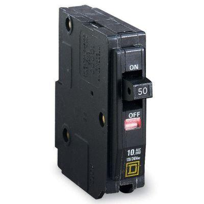 Interruptor termomagnético enchufable c/ventana bandera de disparo 1 polo 50 A