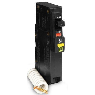 Interruptor tipo QO c/protección falla a tierra 1 polo 20 A