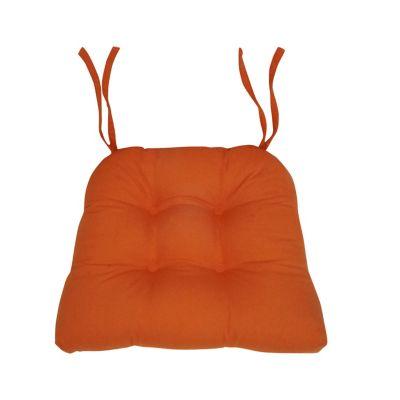 Cojín para silla loneta naranja 43x37 cm