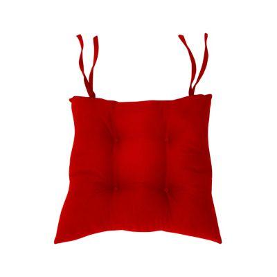 Cojín para silla repelente rojo 42x42 cm