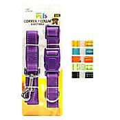 Correa collar nylon c/bandas reflejantes grande
