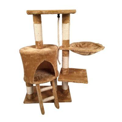Mueble para gato con escalera y hamaca 96 cm