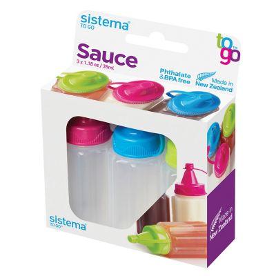 Set de botellas para salsa 3 piezas 35 ml