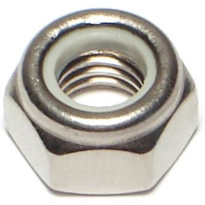 Tuerca de fijación acero Inox. inserto de nylon 8mm-1.25 1 pz.