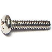 Tornillos acero Inox. cabeza plana p/máquinas 8-32 x 3/4 5 pzs.