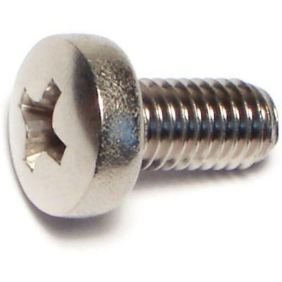Tornillo p/máquina cabeza alomada acero Inox. 5mm-.80 x 10mm 1 pz.