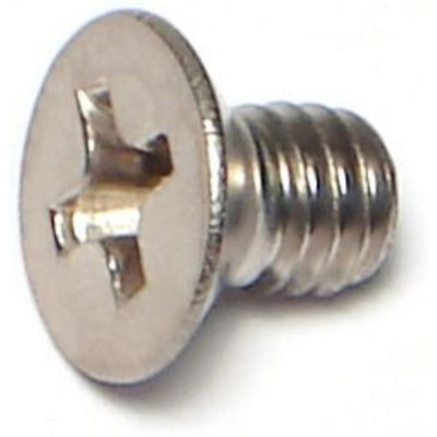 Tornillos p/máquina cabeza plana acero Inox. 4mm-.70 x 6mm 2 pzs.