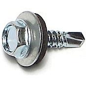 Tornillos hexagonales autoperforantes zinc 10 x 3/4 117 pzs.
