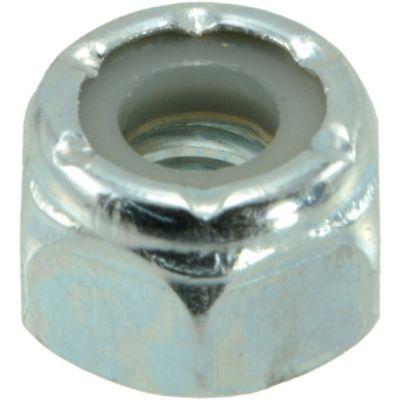 Tuercas gruesas inserción nylon y zinc 1/4-20 100 pzs.