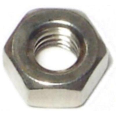 Tuercas hexagonales terminación gruesa acero Inox. 1/4-20 100 pzs.