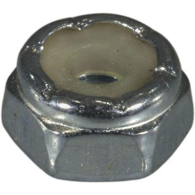 Tuercas gruesas inserción nylon y zinc 6-32 8 pzs.
