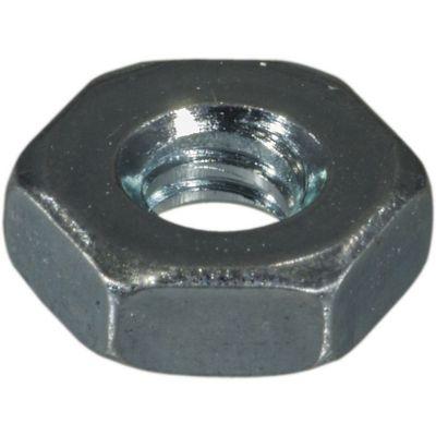 Tuercas hexagonales terminación gruesa zinc 6-32 24 pzs.