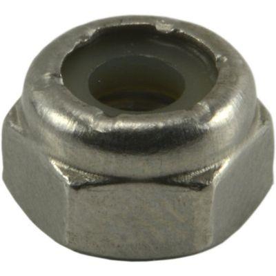 Tuercas gruesas inserción nylon de acero Inox. 10-24 4 pzs.
