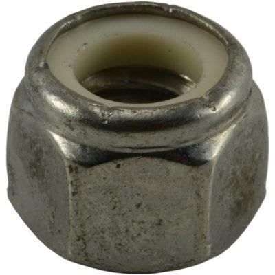 Tuercas gruesas inserción nylon de acero Inox. 3/8-16 2 pzs.