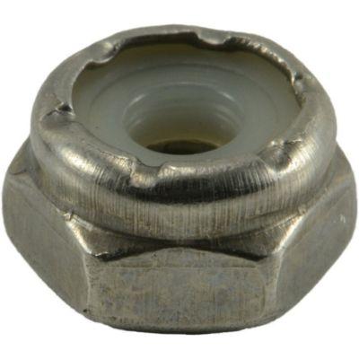 Tuercas gruesas inserción nylon de acero Inox. 6-32 4 pzs.