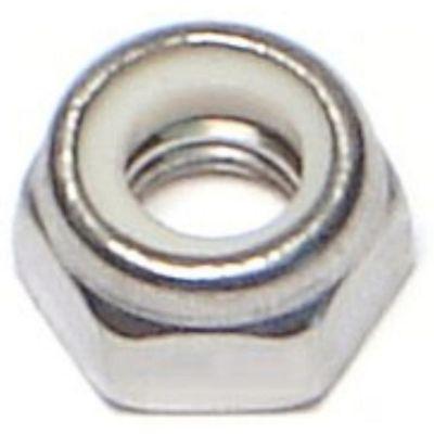 Tuerca de fijación acero Inox. inserto de nylon 5mm-0.80 1 pz.
