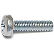 Tornillos sin fin zinc cabeza 5mm-.8 x 20mm 6 pzs.