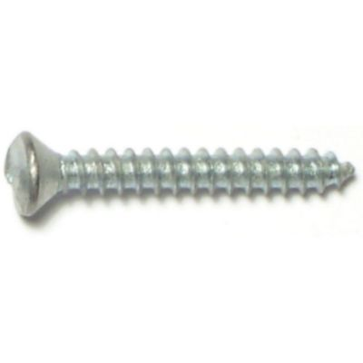 Tornillo p/chapa un solo sentido cabeza ovalada zinc 8 x 1-1/4 1 pz.