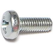 Tornillos sin fin zinc cabeza 6mm-1.0 x 16mm 4 pzs.