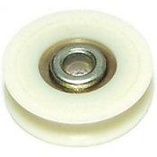 Rodillo deslizante p/puerta ducha 1-1/4 nylon1 pza