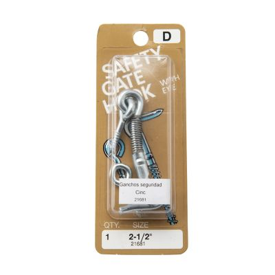 Ganchos seguridad de zinc para puertas 2-1/2 1 pza