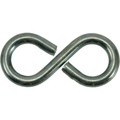 Ganchos S cerrados de zinc 1-1/8 9 pzas