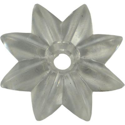 Herraje p/espejo roseta transparente plástico 1-1/2 1 pza