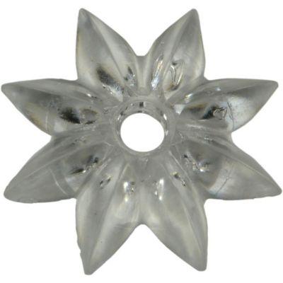 "Herraje p/espejo roseta transparente plástico 1"" 1 pza"