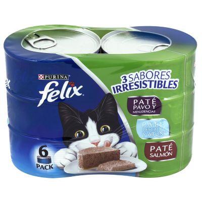 Alimento para gato varios sabores 6 latas 156 g