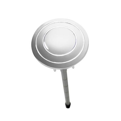 Botón sencillo cromado para descarga de torre de 38 o 48 mm.