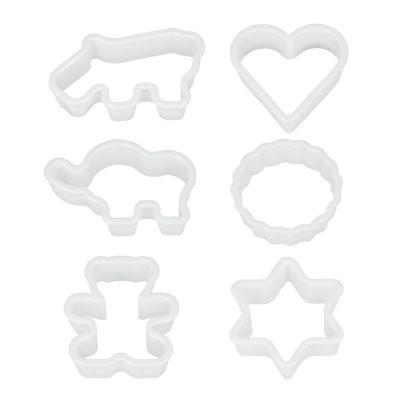 Set de figuras para galleta 6 piezas plástico