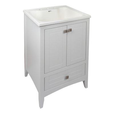 Mueble  Olympia con lavadero blanco