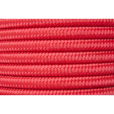 Cable iluminación textil calibre 18  1 m rojo
