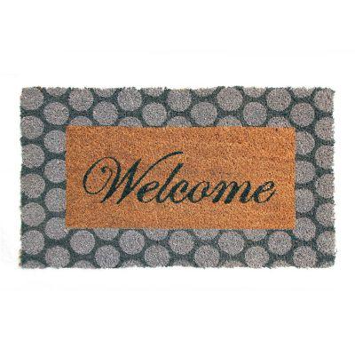 Tapete de entrada Welcome gris 35x60 cm