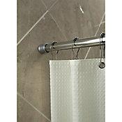 Cortinero de baño extensible 107x183 cm cromo