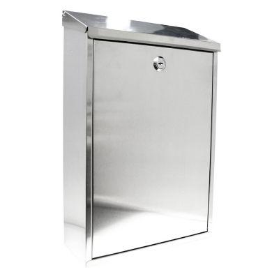 Buzón de acero inox 25.5 x 40 x 10 cm AI