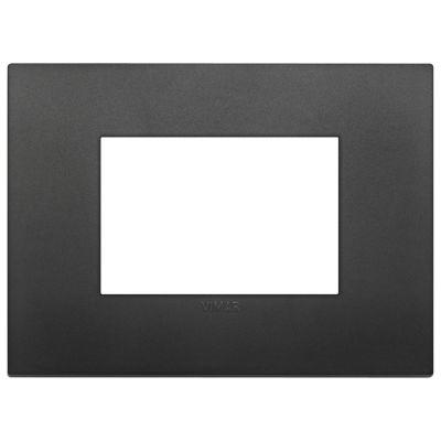 Placa classic tecnopolímeto negro