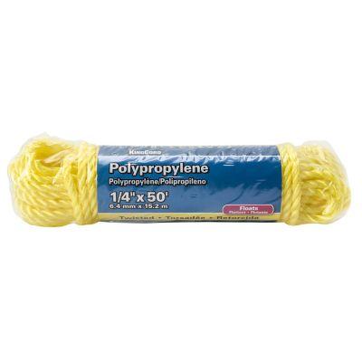 """Cuerda de polipropileno 1/4"""" X 15 m amarilla"""