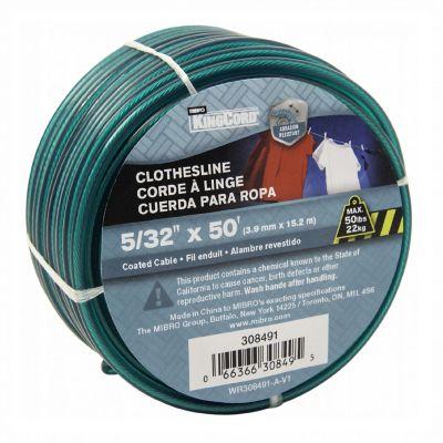 """Cable metal forrado 5/32"""" x 15 m"""