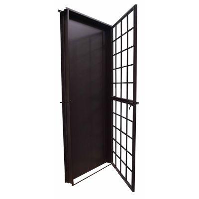 Puerta seguridad La chocolate derecha 90 x 213 cm
