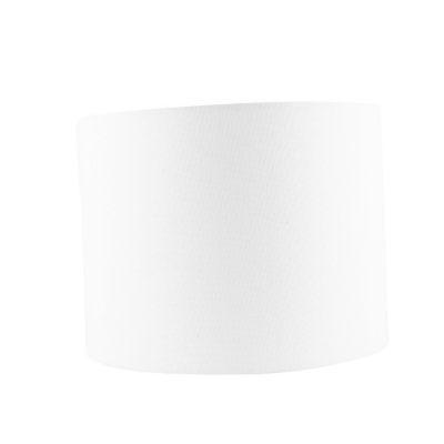 Pantalla para lámpara tela 18cm Etamina blanca
