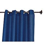 Cortina Rd marino liso con aros 135x220 cm
