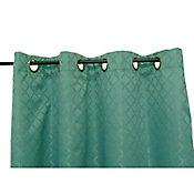Cortina Bo Rombos con aros verde 135x220 cm
