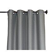 Cortina Rd Gracas con aros gris 135x220 cm