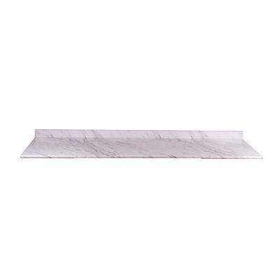 Cubierta ciega postformada nariz radial con respaldo calcutta marble semibrillante