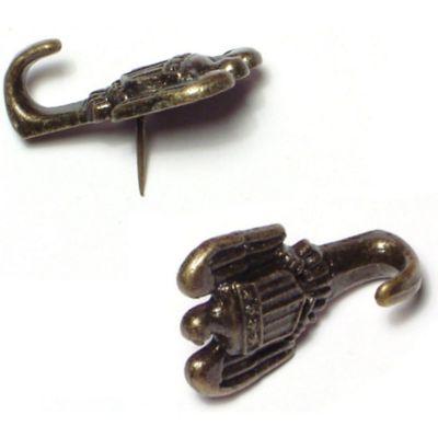 Colgadores chincheta de latón 2 piezas